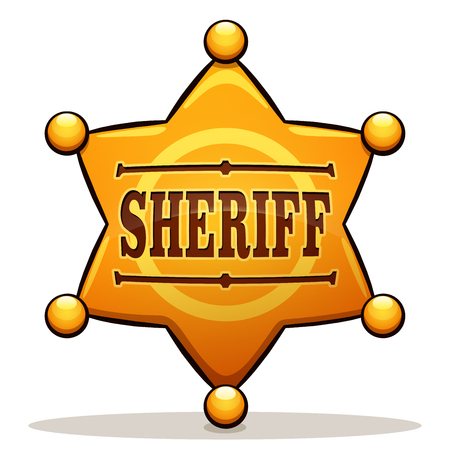 Vector illustration of sheriff badge color design