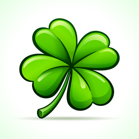 Vector illustration of four leaf clover design