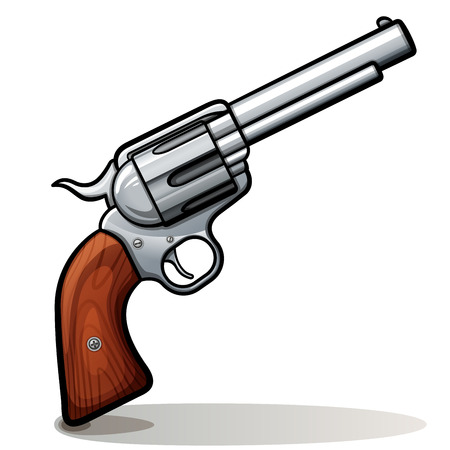 Vector illustration of cowboy gun color design Ilustração