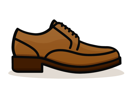 Vector illustration of shoe on white background Ilustração