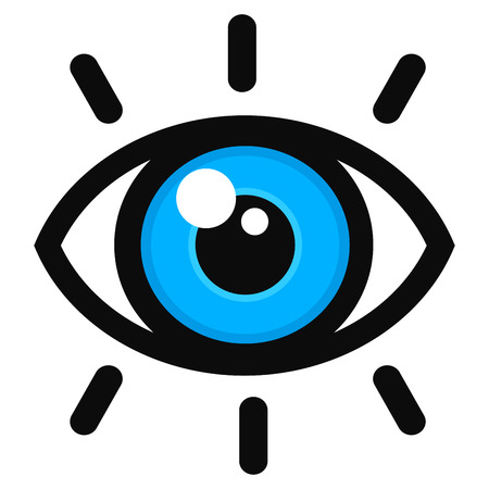 Vector illustration of open eye color icon Ilustração