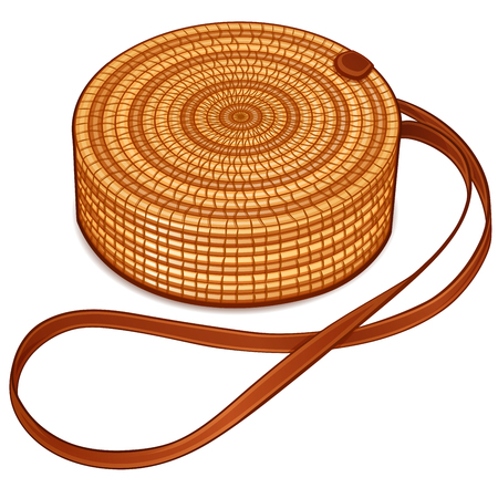 Vector illustration of circle hand bag design