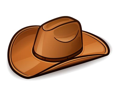 Vector illustration of cowboy hat design concept Vektorové ilustrace