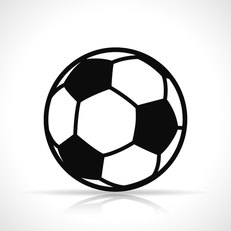 Vector illustration of soccer ball black icon