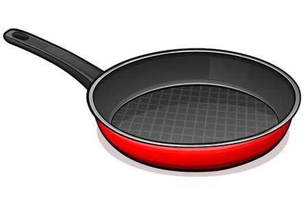 Vector illustration of frying pan design concept Ilustração