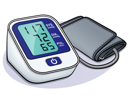 Vector illustration of blood pressure monitor design