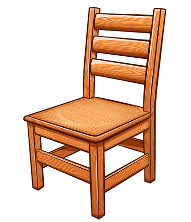 Vector illustration of chair on white background