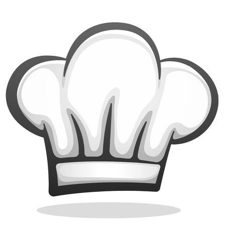 Ilustracja wektorowa projektu ikony kapelusz szefa kuchni