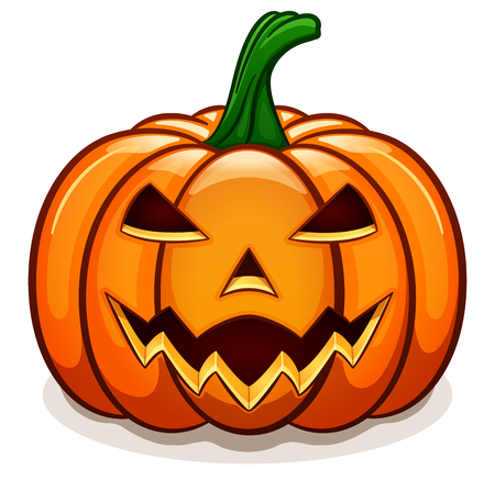 Vector illustration of orange halloween pumpkin design