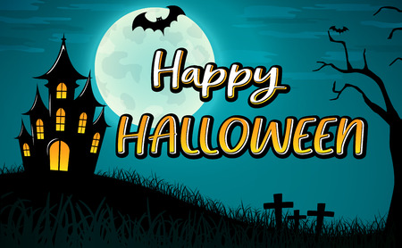 Vector illustration of happy halloween background design Ilustração