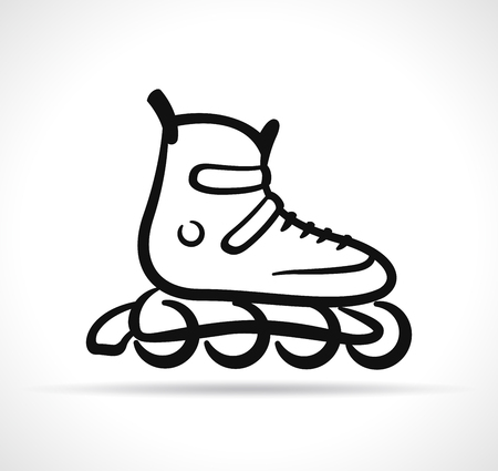 Vector illustration of roller skate black icon