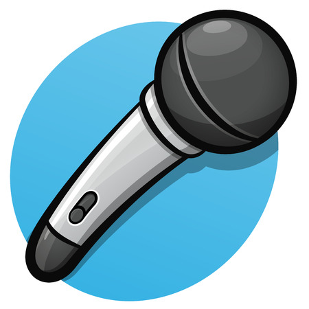 Vector illustration of microphone color cartoon design