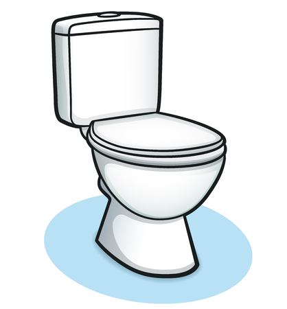 Vector illustration of toilet color design concept Ilustração