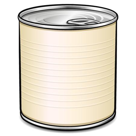 Vector illustration of tin can design concept Illustration