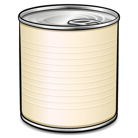 Vector illustration of tin can design concept Ilustração