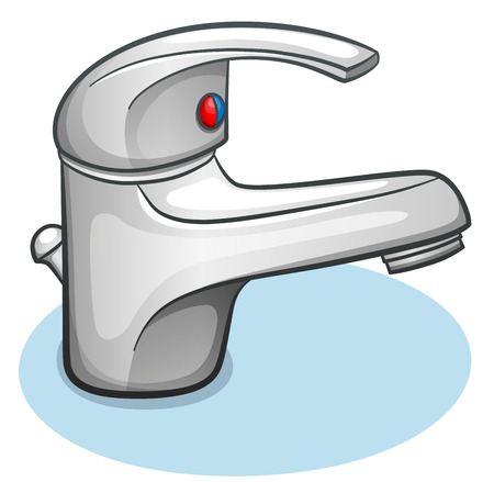 Vector illustration of faucet on white background Ilustração