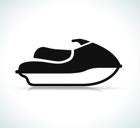 Vector illustration of jet ski black icon 矢量图像