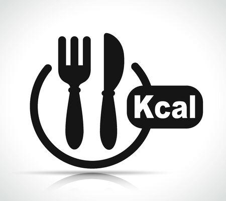 Vector illustration of kcal icon black design