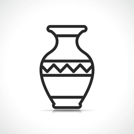 Vector illustration of vase symbol icon design