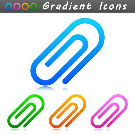 Vector illustration of office paper clip symbol