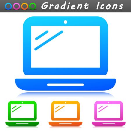 Vector illustration of laptop design symbol icon
