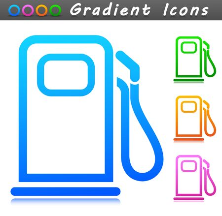 Vector illustration of fuel pump symbol icon Vectores