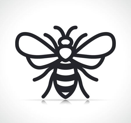 Vector illustration of bee symbol icon isolated Ilustrace