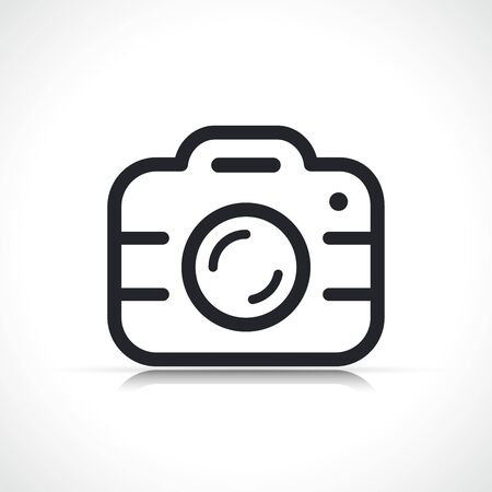 Vector illustration of camera symbol icon isolated Çizim