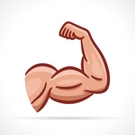 Vector illustration of muscle arm clipart design