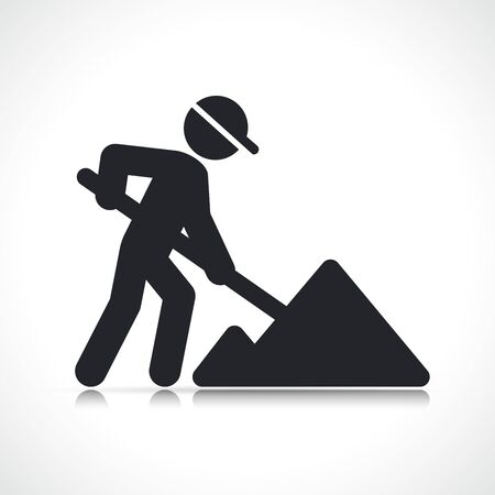 Vector illustration of building construction worker icon Vetores