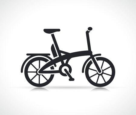 Vector illustration of mini electric bike icon Vektorové ilustrace
