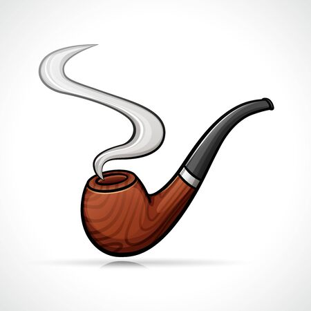 Vector illustration of smoking pipe isolated drawing