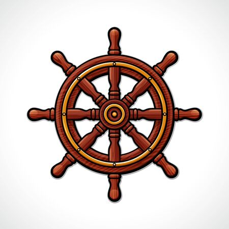 Vector illustration of helm wheel isolated drawing 向量圖像