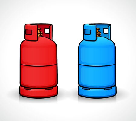 Vector illustration of gas cylinder isolated design