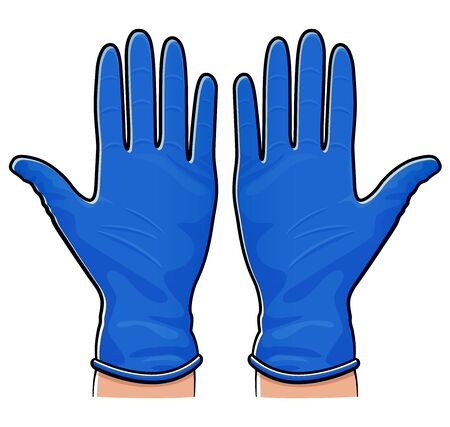Vector illustration of rubber gloves isolated design