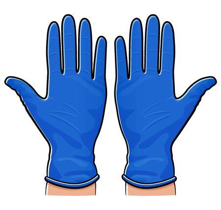 Vector illustration of rubber gloves isolated design Vettoriali