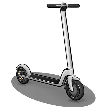 Vector illustration of scooter design drawing isolated