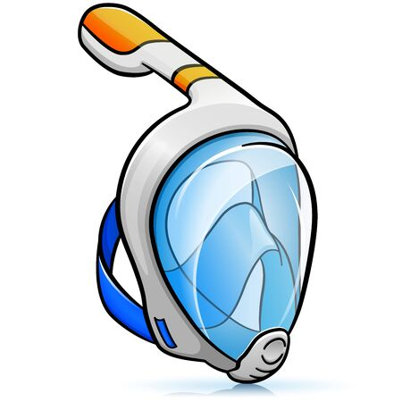 Vector illustration of snorkelling mask design isolated