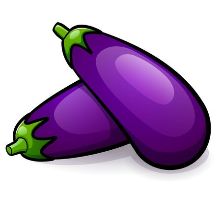 Vector illustration of eggplant isolated design drawing 向量圖像