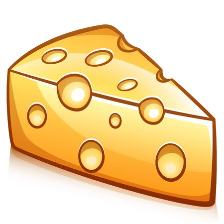 Vector illustration of piece of cheese design 向量圖像