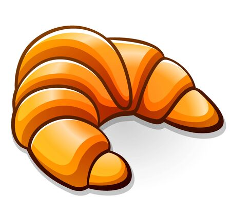 Vector illustration of croissant design drawing isolated