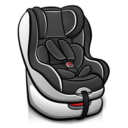 Vector illustration of child car seat design