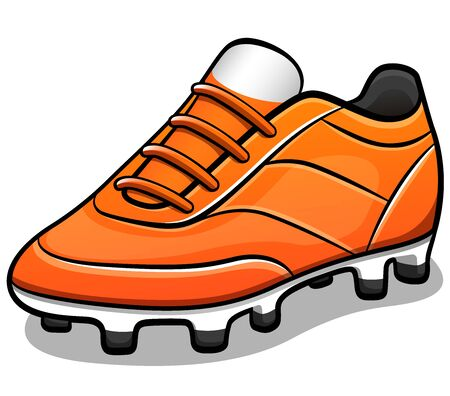 Vector illustration of soccer shoes design isolated