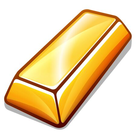 Vector illustration of gold bar design isolated Illustration
