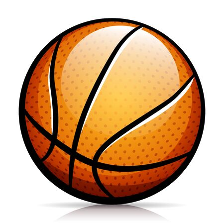 Vector illustration of basketball ball isolated design