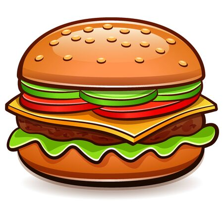 Vector illustration of burger isolated cartoon design