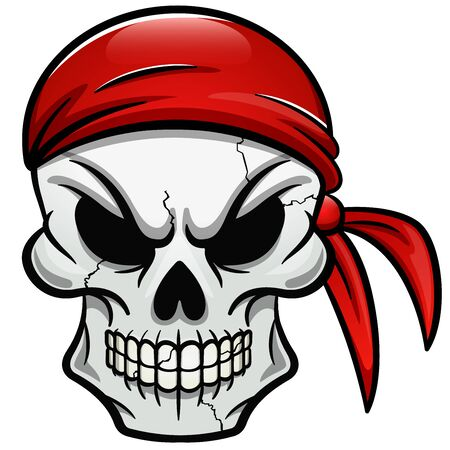 Vector illustration of pirate skull isolated design 向量圖像