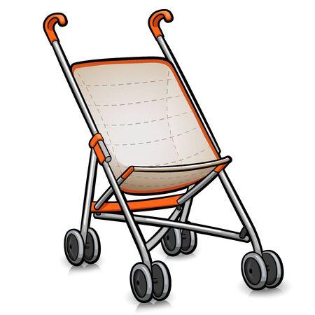 Vector illustration of stroller cartoon isolated design
