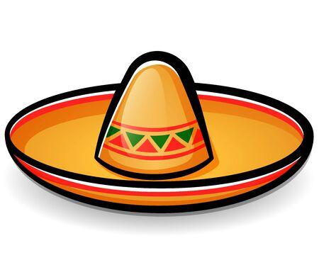Vector illustration of sombrero mexican hat cartoon