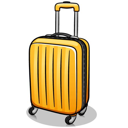 Vector illustration of suitcase cartoon isolated design